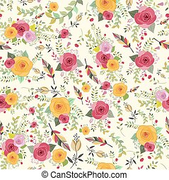 seamless floral texture, pattern, flowers
