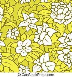 Seamless floral texture with white flowers