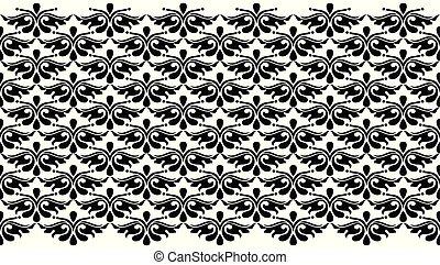 Seamless floral vector border