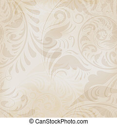 seamless floral vintage background - vector seamless...