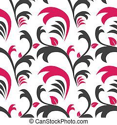 seamless, floreale, pattern., decorazione, fondo.