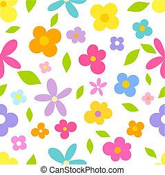 seamless, flores
