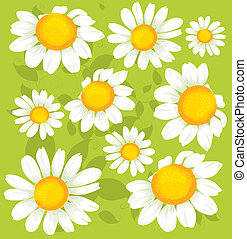 seamless, flores, patrón