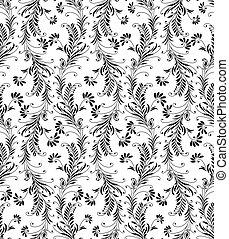 Seamless flourish pattern