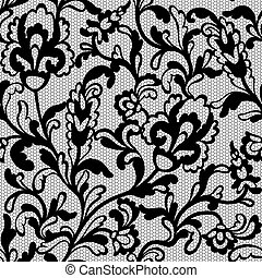Seamless flower lace pattern