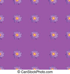 Seamless flower on purple background pattern print