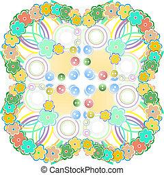 seamless flower pattern background - decorative