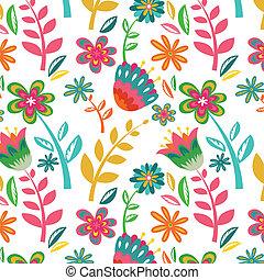 seamless flower pattern background