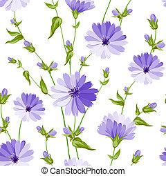 Seamless Flower Pattern - Seamless flower pattern of wild...