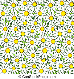 Seamless flower pattern - Seamless nature pattern with...