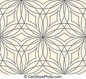 Seamless flower pattern on beige background