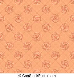 seamless flower pattern on orange background