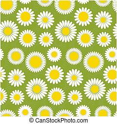 Seamless chammomile pattern