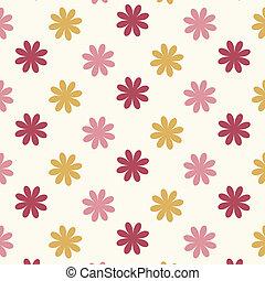 Seamless flower pattern vector background