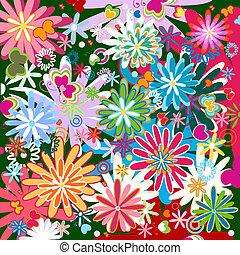 flower pattern - seamless flower pattern
