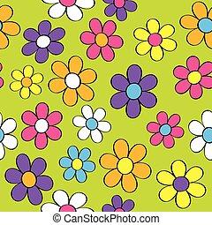 Seamless Flower Power - A seamless pattern of groovy flowers...
