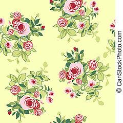 seamless flower print element wallpaper pattern