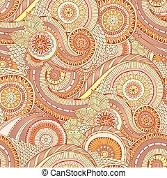 Seamless flower retro background in vector. - Seamless...