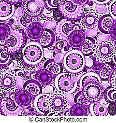 Seamless flower retro background pattern in vector
