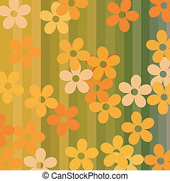 Seamless flowers and stripes background