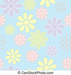 Seamless Flowers Background.