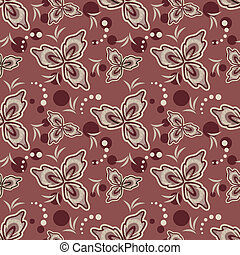 Seamless flowers pattern.