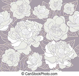 Seamless flowers pattern - Seamless floral pattern. ...