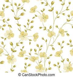 Seamless flowers pattern.
