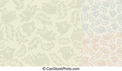 Seamless flowers pattern. Template