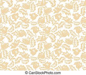 Seamless flowers pattern. Wallpaper