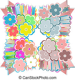 Seamless flowers vector abstract background