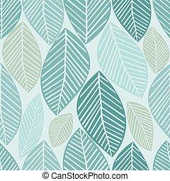 seamless, folhas, padrão, fundo