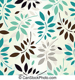 seamless, folhas, papel parede