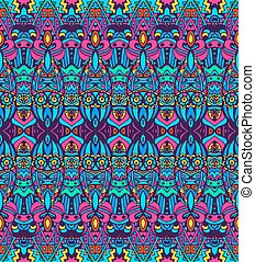 seamless folk ethnic tribal pattern