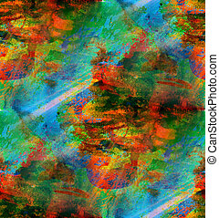 seamless, fond, aquarelle, vert, rouges, texture, résumé, papier, couleur, peinture, modèle, eau, conception, art