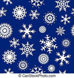 seamless, fond, flocons neige