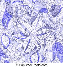 seamless, fond, floral, vendange