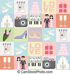 seamless, fondo, matrimonio
