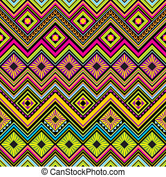 seamless, fondo, zigzag, messicano