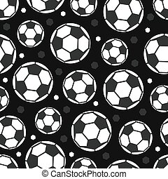 seamless football with geometric pattern on black background