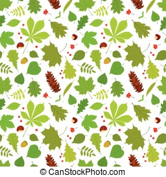 Seamless forest pattern - Seamless pattern of different tree...