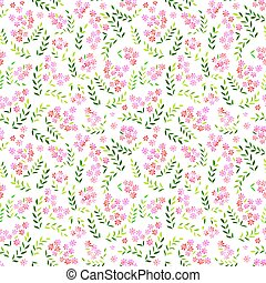 Seamless forget-me-not flowers pattern.  Floral background