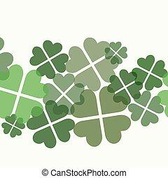 Seamless four leaf clover decorative pattern.