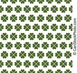 Seamless Four Leaf Clover Pattern - Seamless four leaf ...