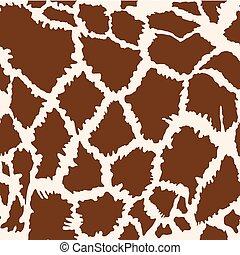 seamless, fourrure, modèle, girafe