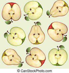 seamless, från, frukter
