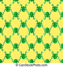 Seamless Frog Pattern. Animal Background