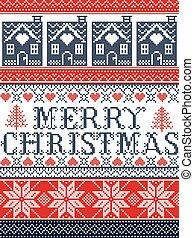 Frohe Weihnachten Norwegisch.Dekorativ Norwegisch Stoff Herz Festlicher Stich Winter