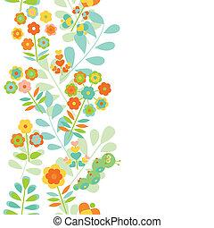 seamless, frontera floral, plano de fondo