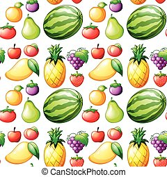 seamless, fruit
